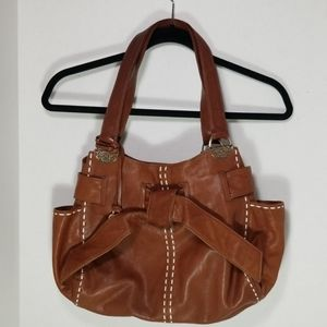 Brighton Cleo leather satchel bag